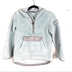 THE NORTH FACE girls 1/4 zip Sherpa sweater A7